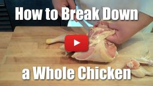 How to Break Down a Whole Chicken - Butchery Knife Skills Video Technique
