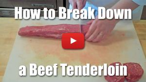 How to Break Down a Beef Tenderloin and Fabricate Into Fillets of Beef - Video - Butchery - Culinary Knife Skills