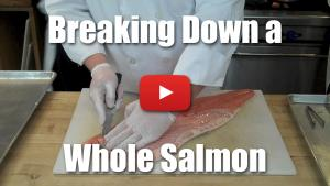 How to Break Down (Fabricate/Butcher) A Whole Salmon - Video Technique