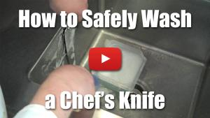 How to Safely Wash a Chef's Knife - Video Demonstration