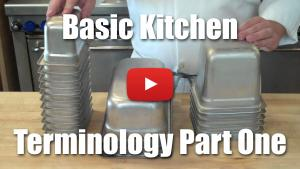 Basic Kitchen Terminology Part One - Hotel Pans, Half Pan, Ninth Pan, Sixth Pan, Third Pan - Video