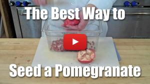 How to Quickly De-Seed Pomegranates - Video Technique