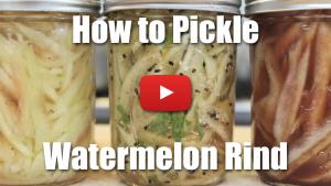 How to Pickle Watermelon Rind - Video Recipe