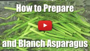 How to Peel and Blanch Asparagus - Video Technique