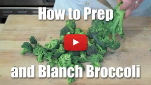 How to Prepare Broccoli - Peel, Blanch, Steam, Roast - Video Technique