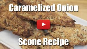 Savory Caramelized Onion Scone Recipe - Video