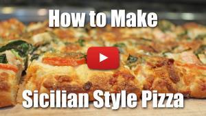 How to Make Sicilian Style Pizza or Pizza Romano