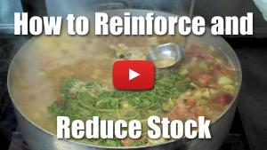How to Reinforce and Reduce Stock for Pan Sauces, Demi Glace and Glace di Viande - Video