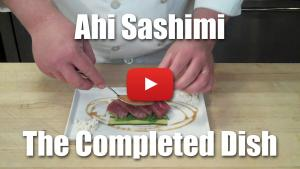 Ahi Sashimi with Cantaloupe Caviar - Video Recipe